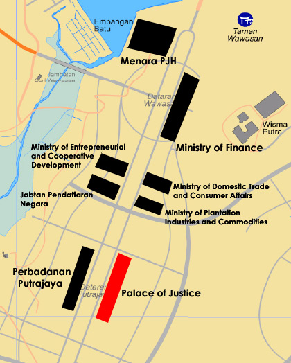 palace of justice map